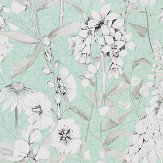 Designers Guild Emilie Aqua Wallpaper