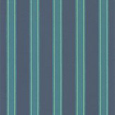 Farrow & Ball Block Print Stripe Arsenic Wallpaper