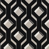 Designers Guild Chareau Flock Noir Wallpaper