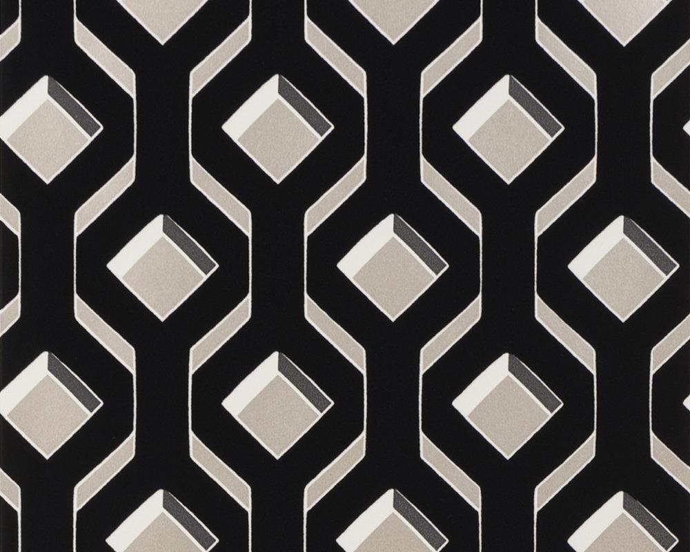Designers Guild Chareau Flock Noir Wallpaper - Product code: PDG1053/05