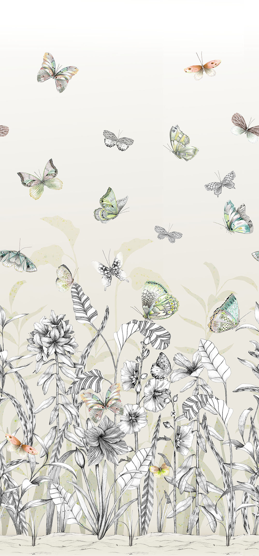 Designers Guild Papillons Birch Mural - Product code: PDG1058/01