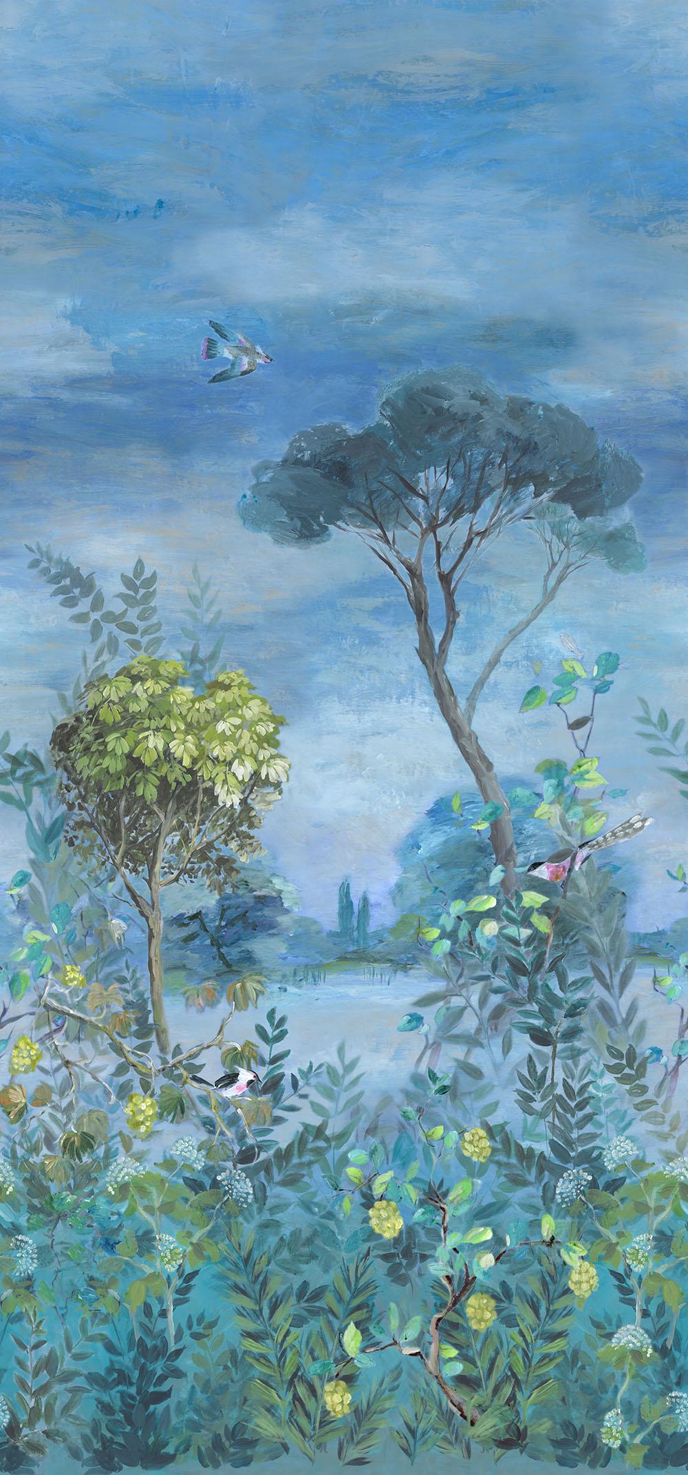 Giardino Segreto Scene 1 Mural - Multi - by Designers Guild