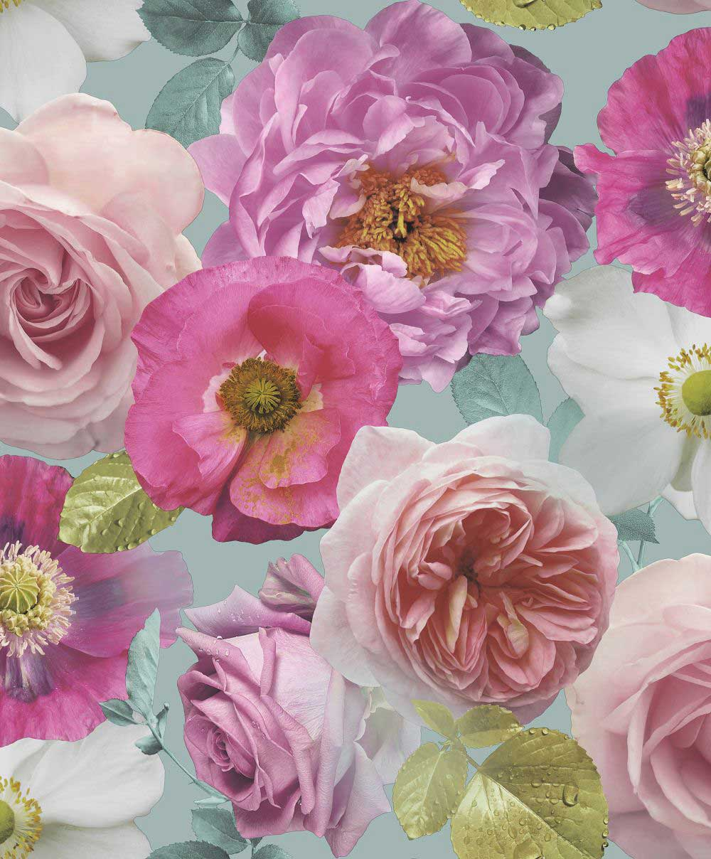 Arthouse Country Garden Teal Wallpaper - Product code: 259600