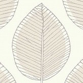 Arthouse Sketched Leaf Neutral Wallpaper