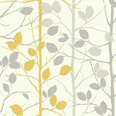 Arthouse Woodland Grey / Yellow Wallpaper