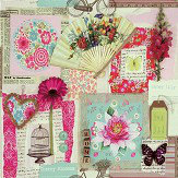 Arthouse Scrapbook Multi-coloured Wallpaper