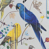 Christian Lacroix Birds Sinfonia Metallic Silver Wallpaper