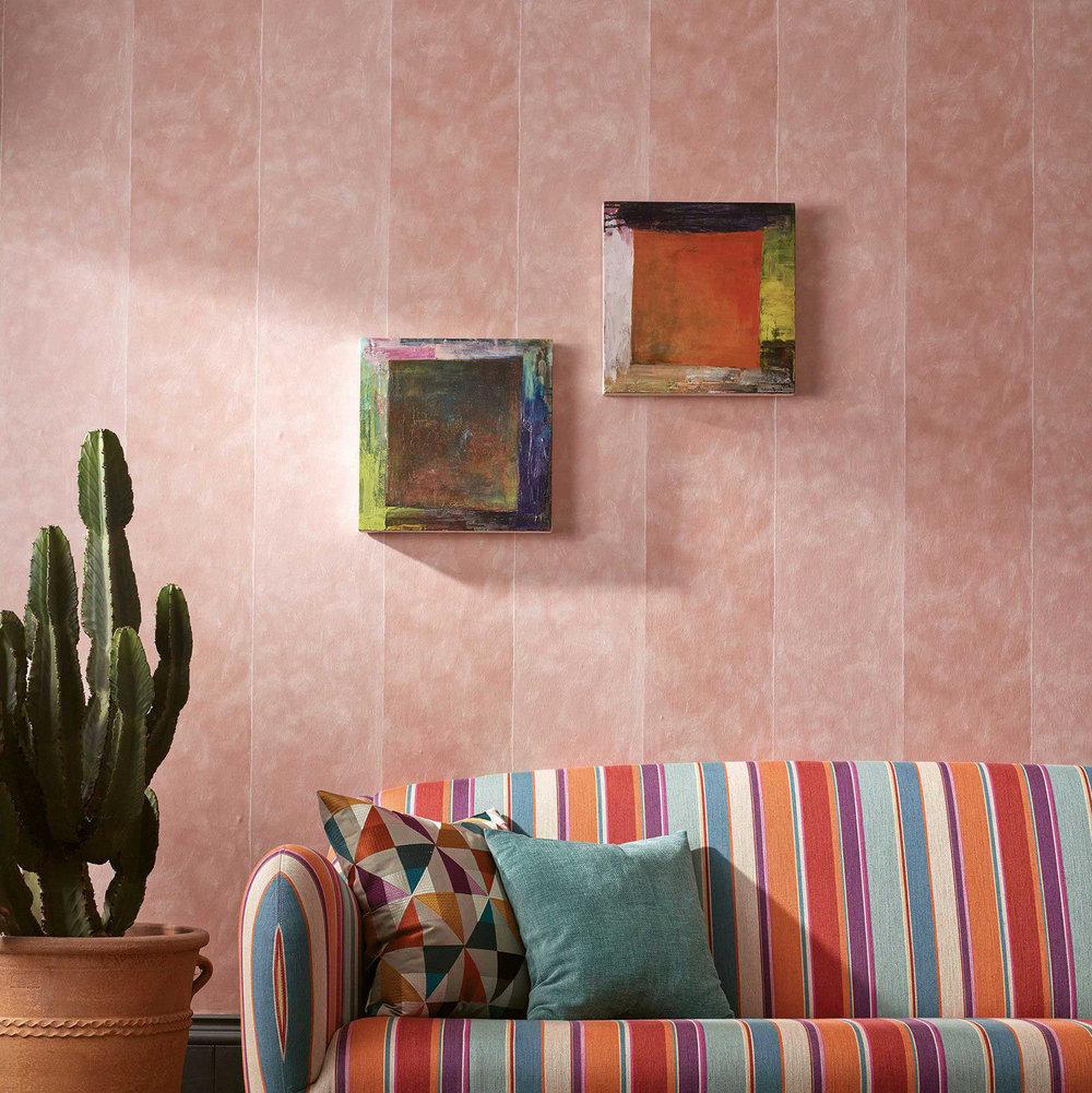 Manarola Stripe Wallpaper - Rose Pink - by Osborne & Little