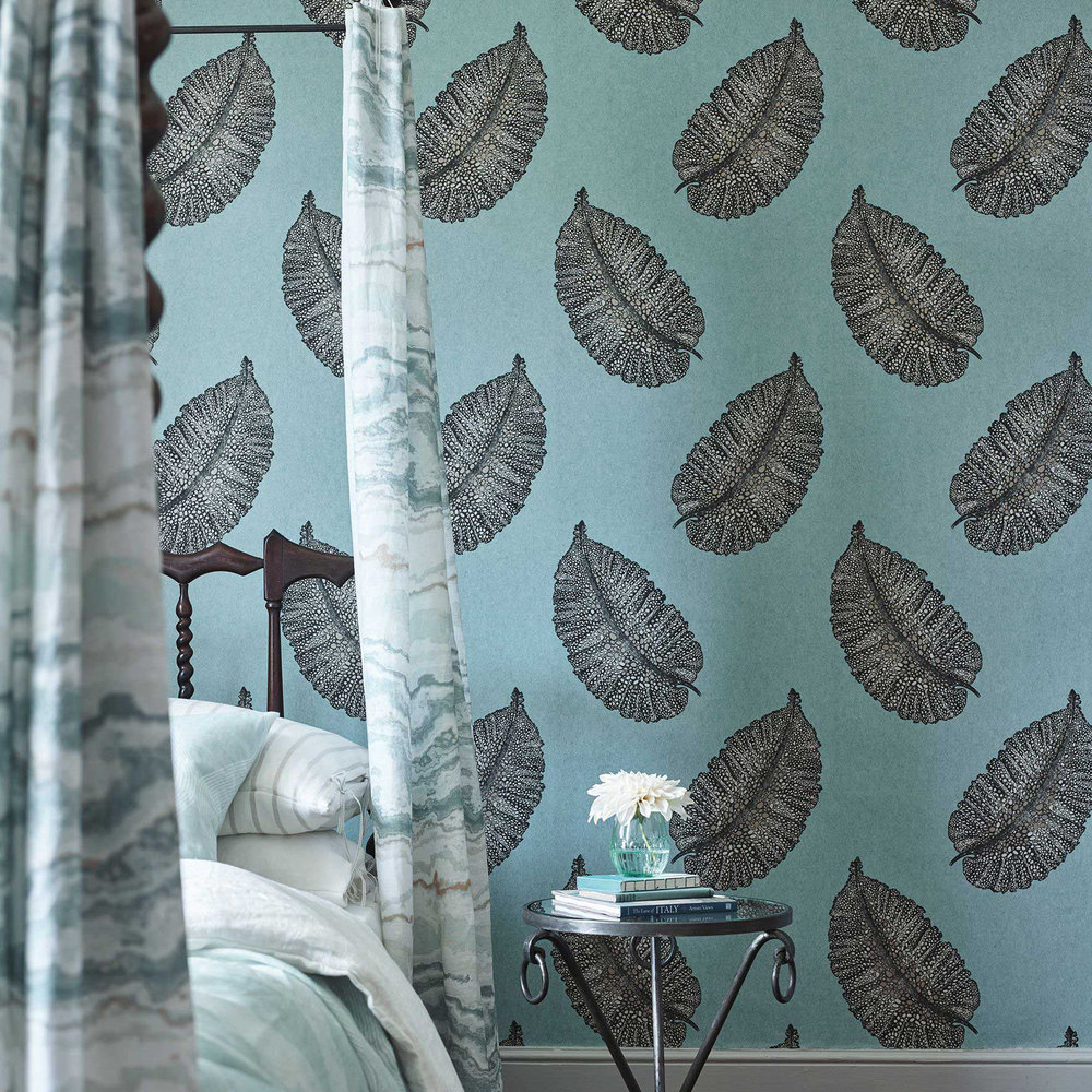 Osborne & Little Paraggi Ocean Blue Wallpaper - Product code: W7218-01