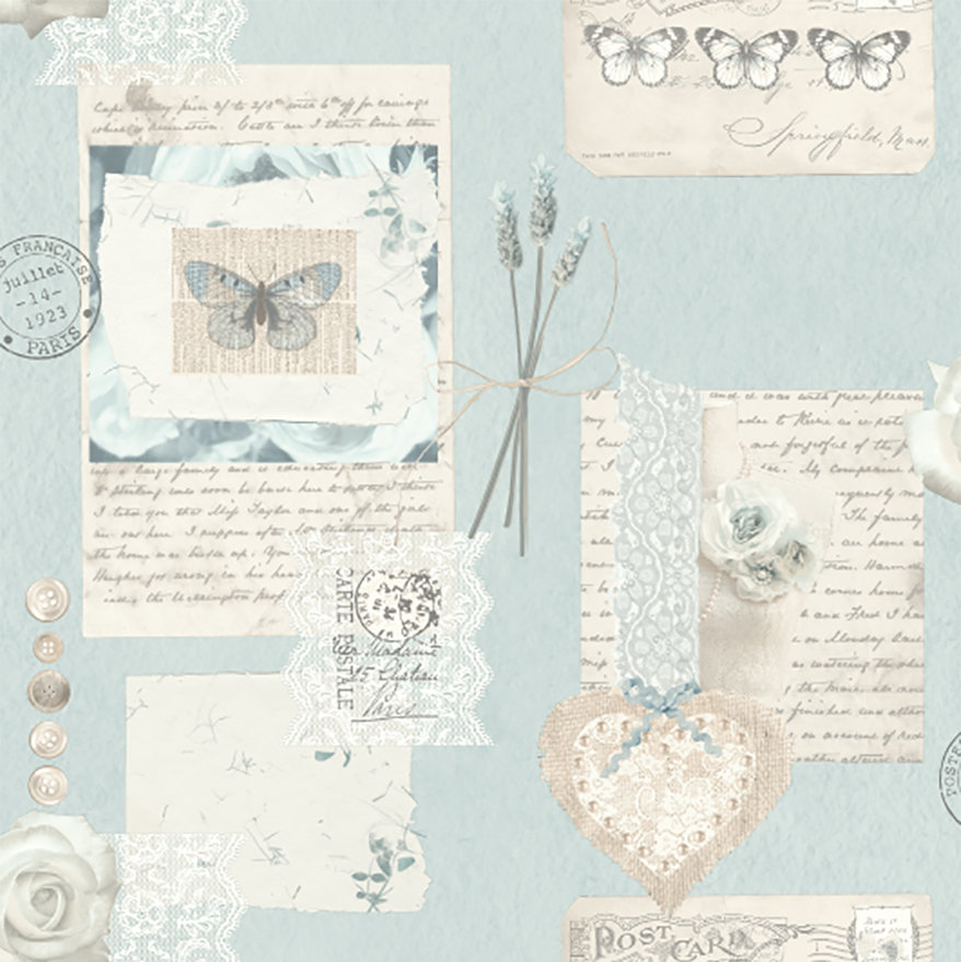 Arthouse Lavender Days Blue Wallpaper - Product code: 665902