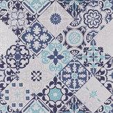 Osborne & Little Cervo Blue Wallpaper - Product code: W7211-04
