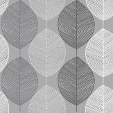 Arthouse Scandi Leaf Mono Wallpaper