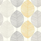 Arthouse Scandi Leaf Yellow Wallpaper