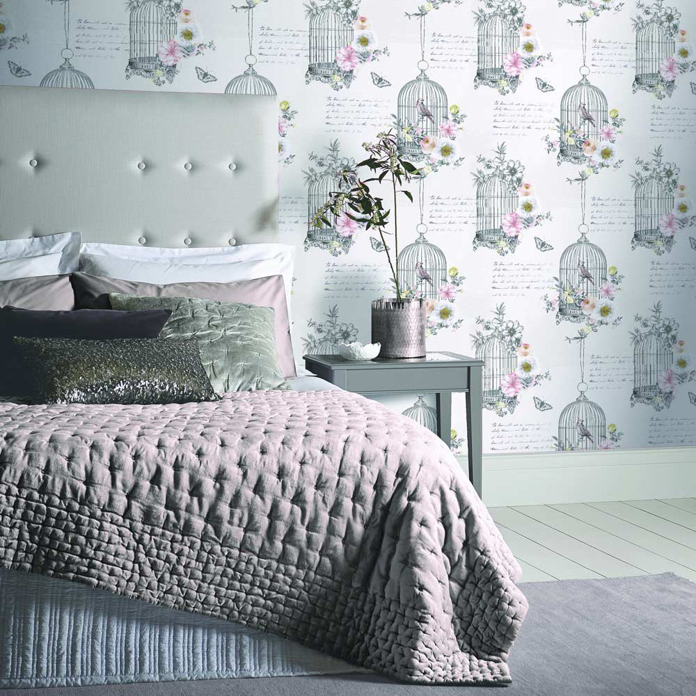 Arthouse Diamond Birdcage Neutral Wallpaper - Product code: 259700