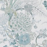 Osborne & Little Carlotta Aqua Blue Wallpaper