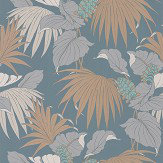 Osborne & Little Vernazza Aqua / Copper Wallpaper