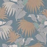 Osborne & Little Vernazza Aqua / Copper Wallpaper - Product code: W7217-03