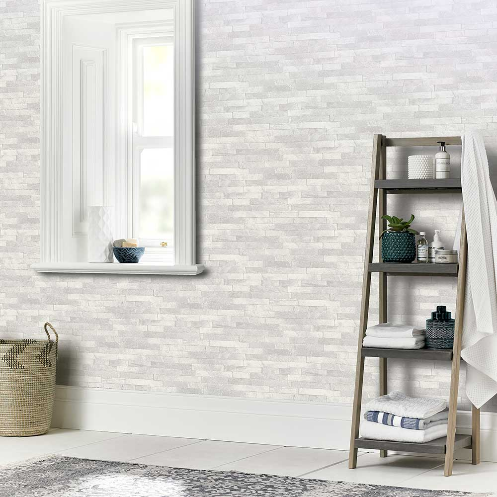 Diamond Slate Wallpaper - Dove Grey - by Arthouse