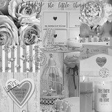 Arthouse Diamond Rose Mono Wallpaper
