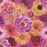 Arthouse Foil In Bloom Fuchsia Wallpaper