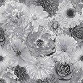 Arthouse Foil In Bloom Mono Wallpaper