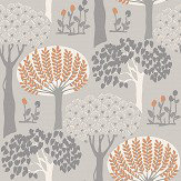 Arthouse Bernwood Orange / Grey Wallpaper