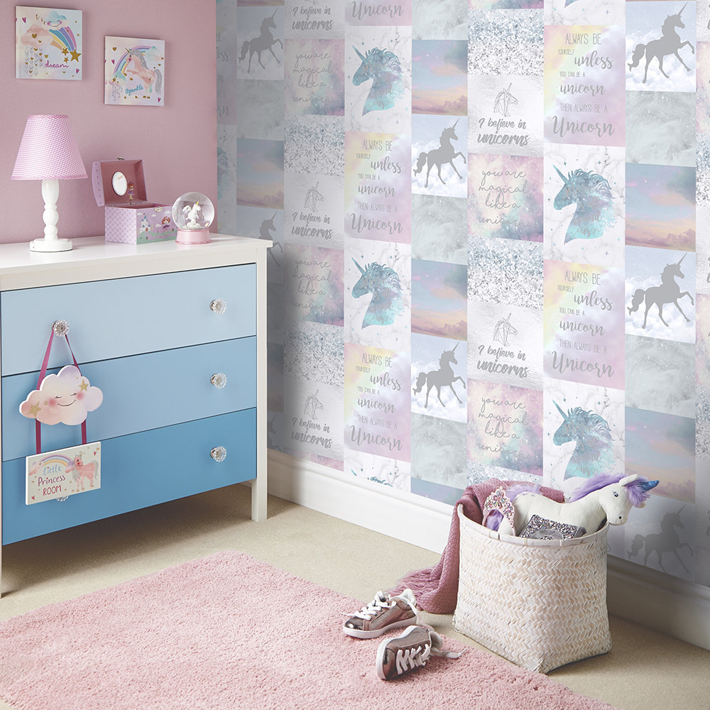 Arthouse Believe in Unicorns Multi Wallpaper - Product code: 698300