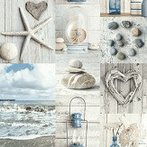 Arthouse Maritime Collage Blue / Grey Wallpaper