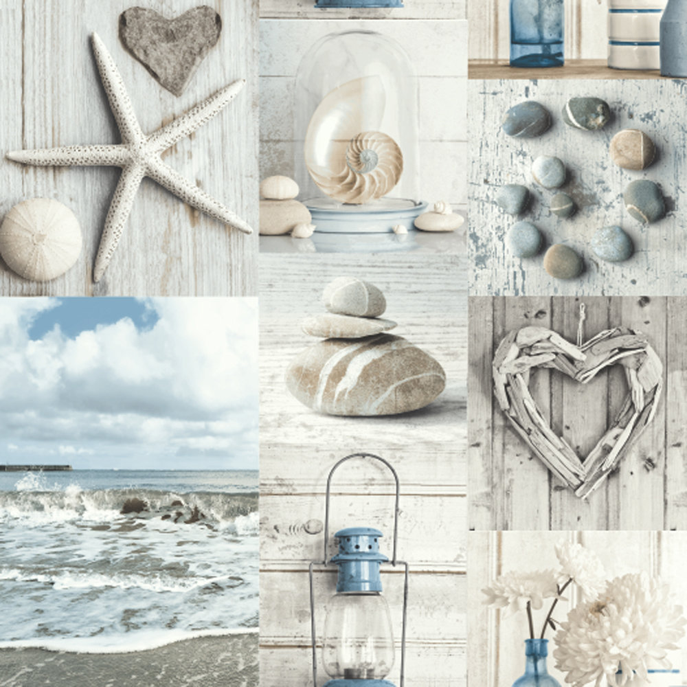 Arthouse Maritime Collage Blue / Grey Wallpaper - Product code: 699000