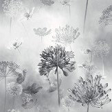 Arthouse Spring Meadow Mono Wallpaper