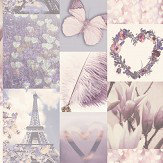 Arthouse Parisian Memories Lilac Wallpaper