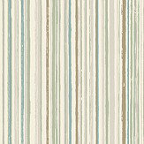 The Paper Partnership Milne Stripe Aqua and Linen Wallpaper
