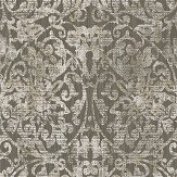 The Paper Partnership Hurst Damask Dark Chocolate Wallpaper