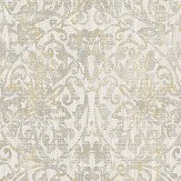 The Paper Partnership Hurst Damask Warm Grey Wallpaper