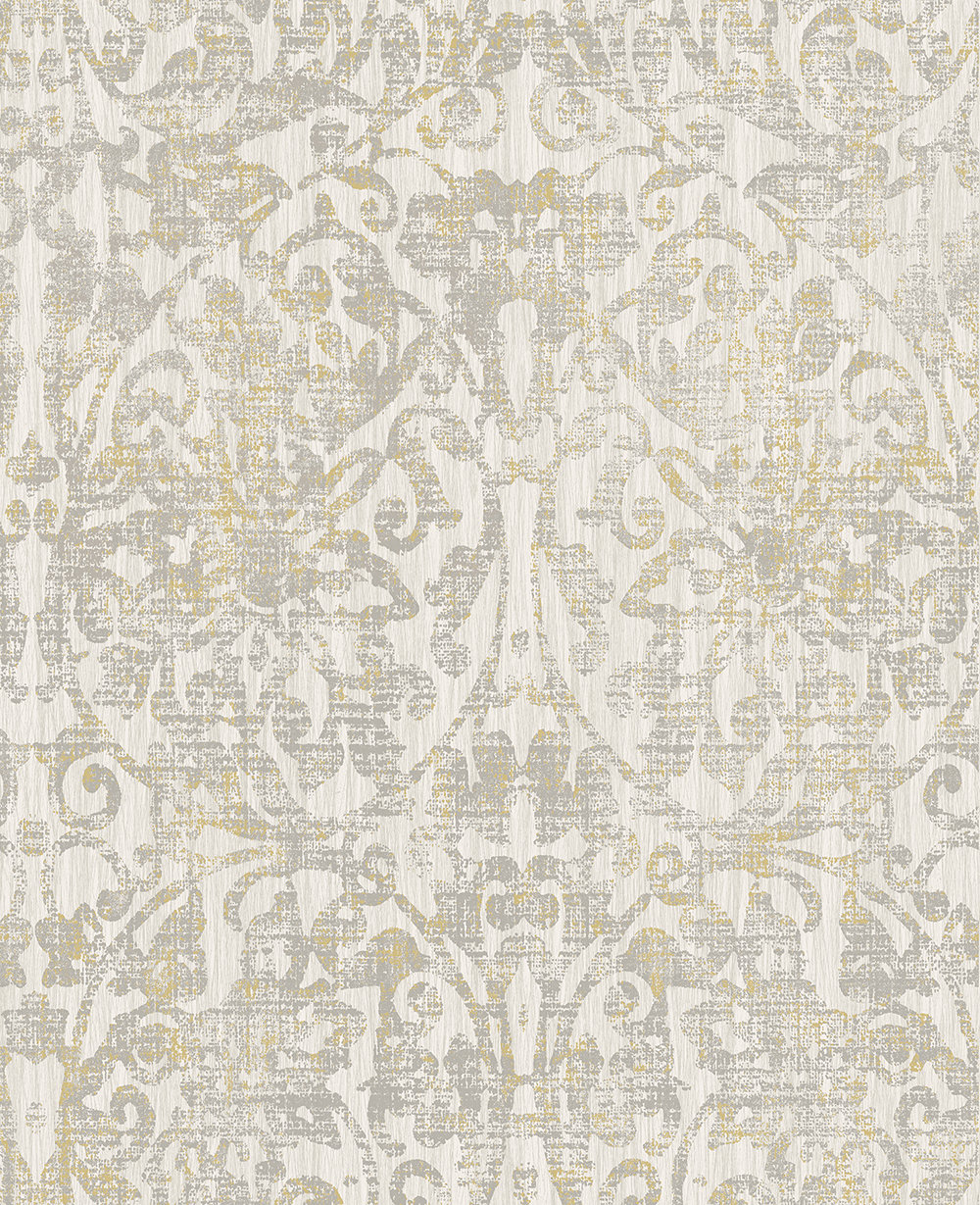 The Paper Partnership Hurst Damask Warm Grey Wallpaper main image