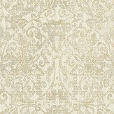 The Paper Partnership Hurst Damask  Cream Wallpaper