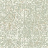 The Paper Partnership Hurst Damask Sage Wallpaper