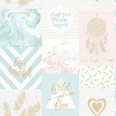 Albany Wild and Free Blue/Pink Wallpaper - Product code: 90210