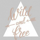 Albany Wild and Free Grey/ Rose Gold Wallpaper - Product code: 90211