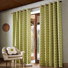 Orla Kiely Orla Kiely Linear Stem eyelet curtains Olive Ready Made Curtains