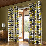 Orla Kiely Orla Kiely Multi Stem eyelet curtains Duck Egg Ready Made Curtains