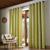 Orla Kiely Orla Kiely Linear Stem eyelet curtains Olive Ready Made Curtains