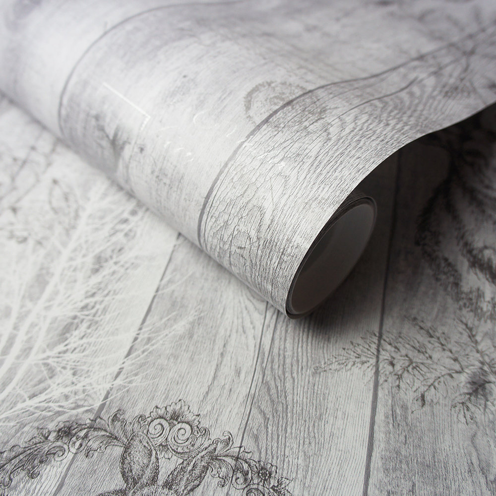 Chatsworth Wallpaper - Grey - by Albany