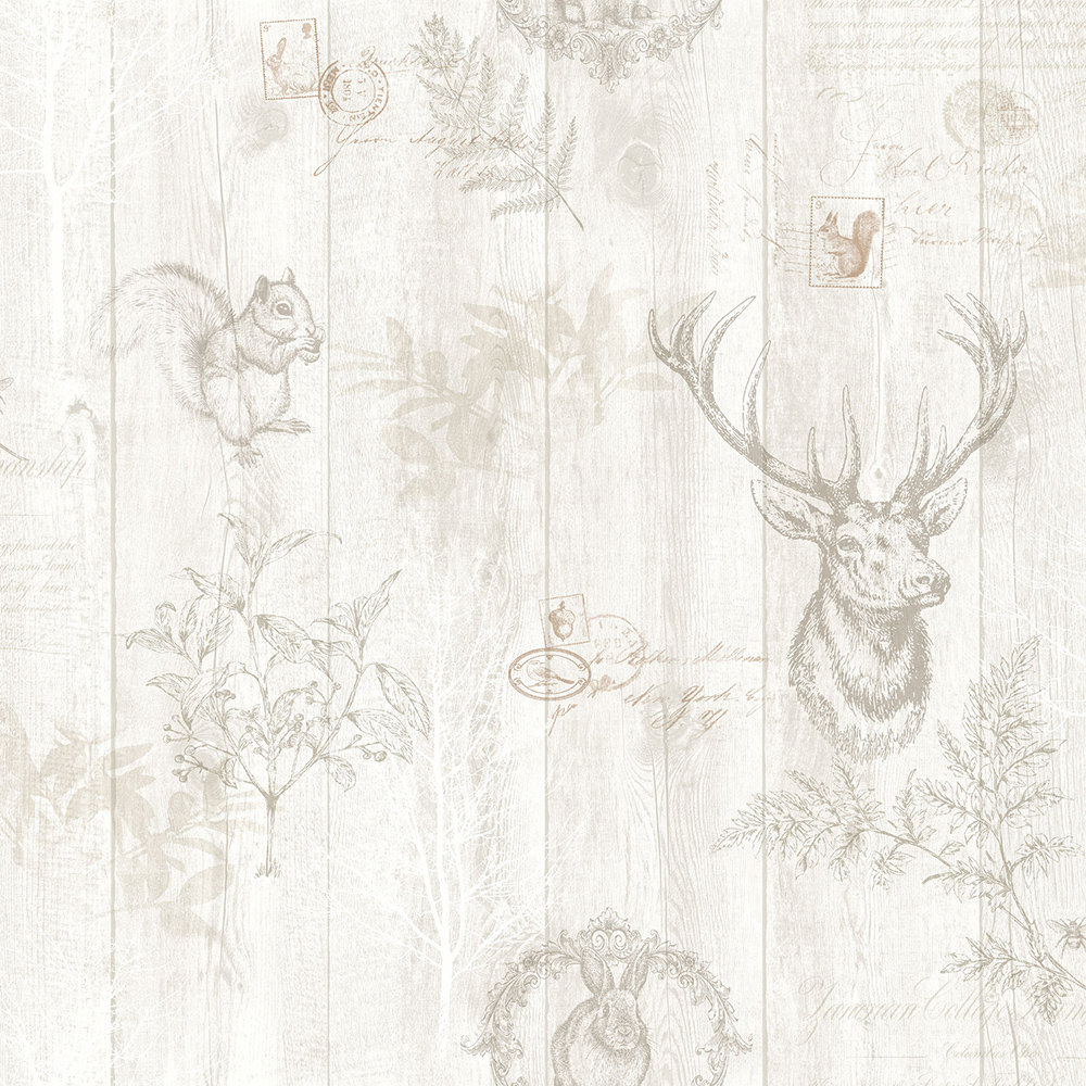 Albany Chatsworth Cream Wallpaper main image
