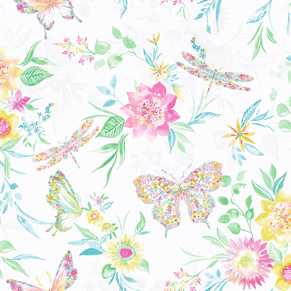 Albany Botanical Butterfly Multi Wallpaper - Product code: 90261