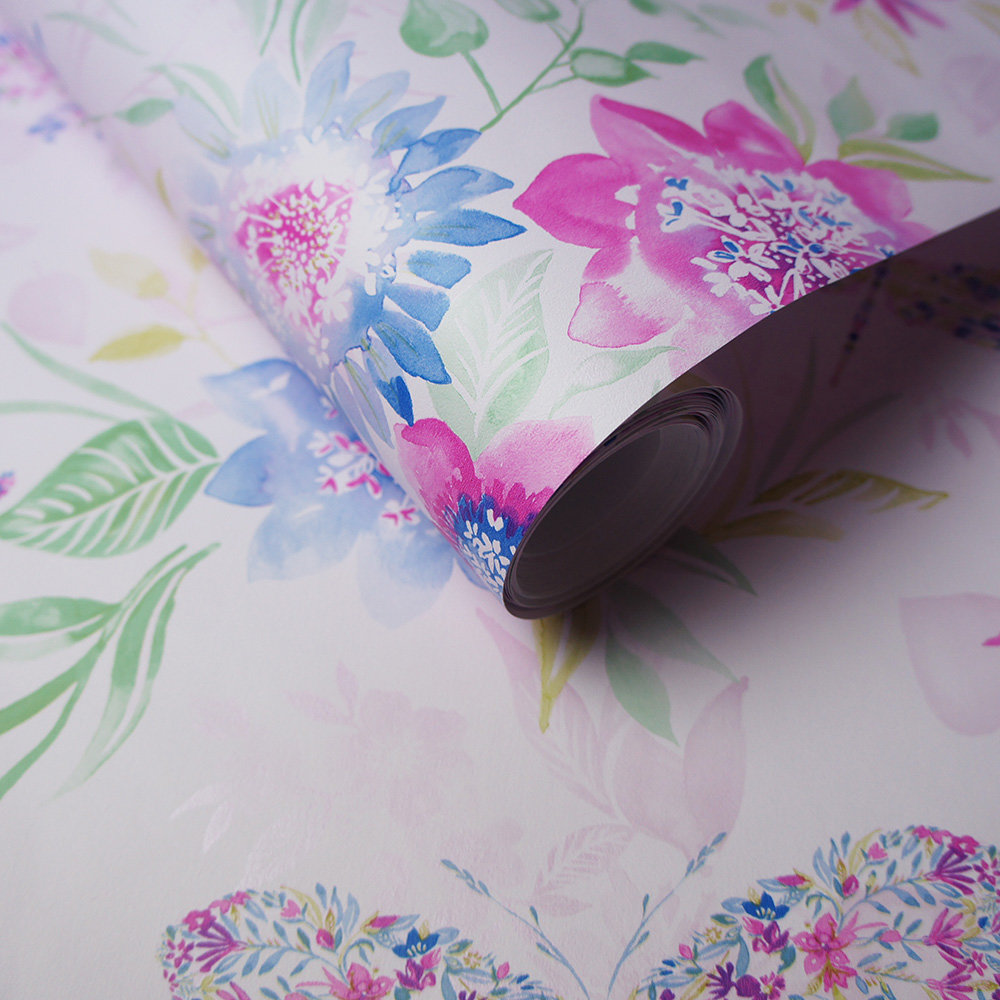 Albany Botanical Butterfly Pink Wallpaper - Product code: 90262