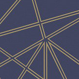 Albany Omega Navy and Gold Wallpaper - Product code: 90272