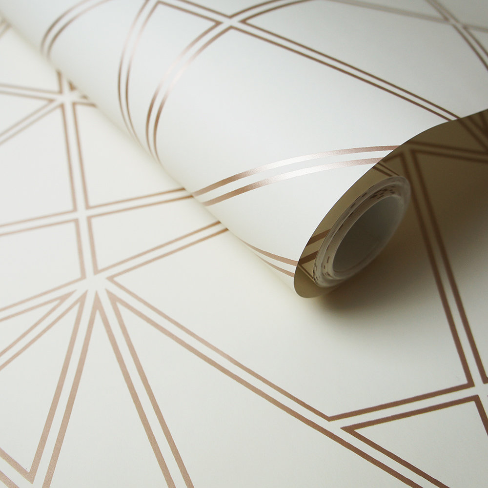 Albany Omega Cream and Rose Gold Wallpaper - Product code: 90273