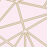 Albany Omega Dusky Pink and Gold Wallpaper