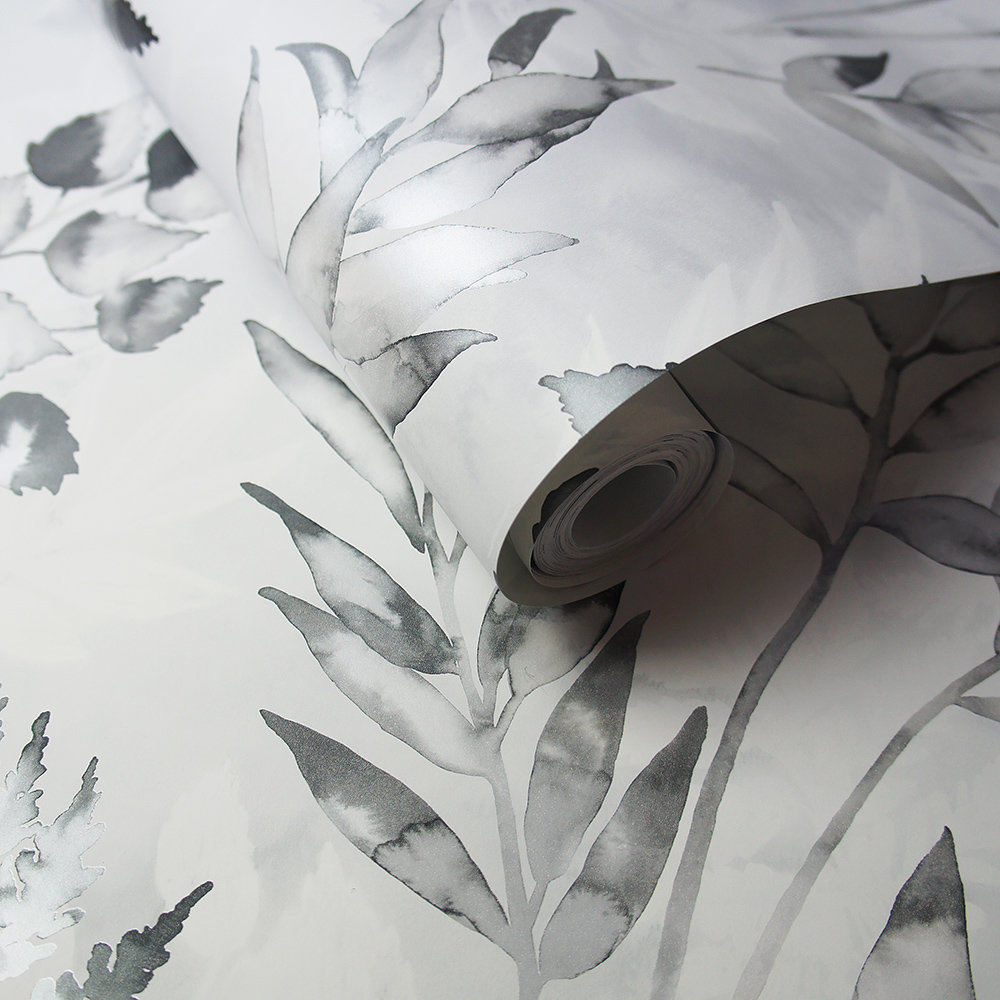 Albany Cedar Grey/ Silver Wallpaper - Product code: 90290